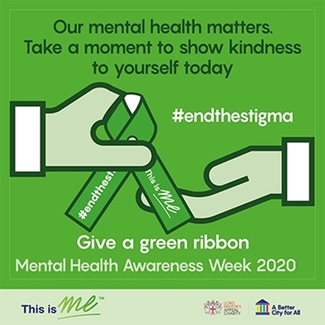 An image of a Green Ribbon being shared