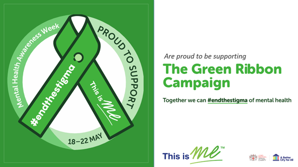 An image of the Green Ribbon with information about the campaign as a digital poster for you to show your support.