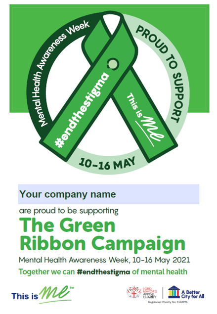 Picture of The Green Ribbon Campaign Editable A5 Poster: Download