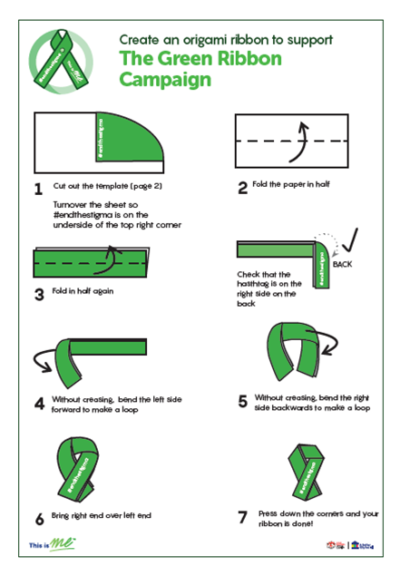Picture of Origami Green Ribbons: Download