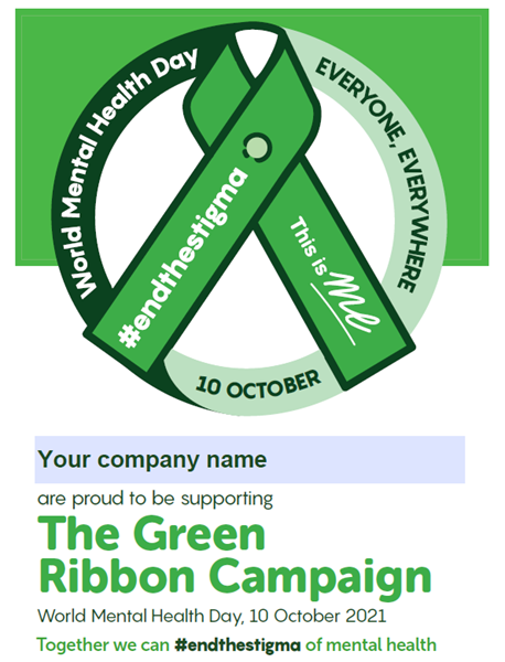 Picture of The Green Ribbon Campaign Editable A4 Poster: Download